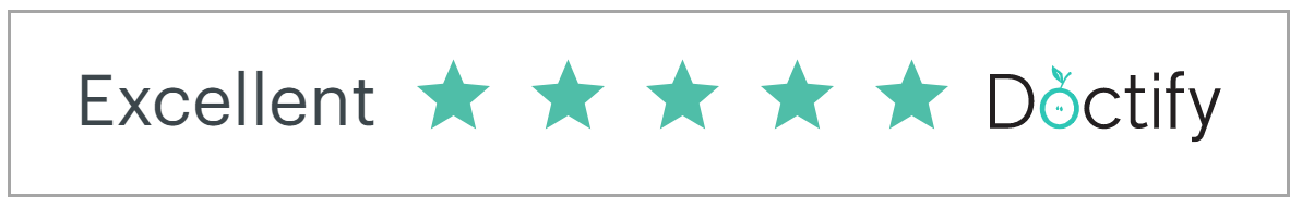 5 Star excellent rating from Doctify Reviews